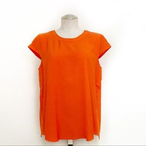 J. Crew Loose Fitting Blouse Top Red Size 8